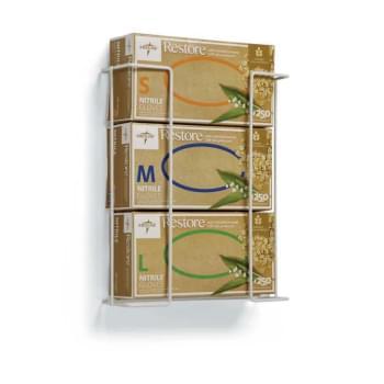 HOLDER,HORIZONTAL,GLOVE BOX,WIRE,WHITE,TRIPLE,10/CASE