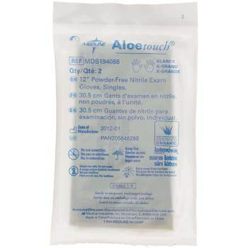 "GLOVE,EXAM,NITRILE,ALOE,STRL,12"",PAIR,XL,200 PR/CS"