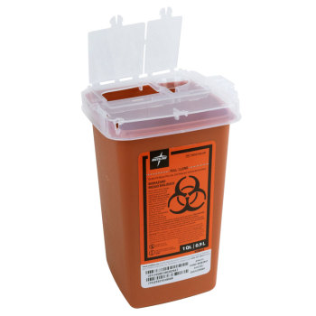 CONTAINER,SHARPS,1 QT, RED, PHLEB,EA