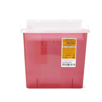 CONTAINER,SHARPS,5 QT,RED,WALL MOUNT,EA