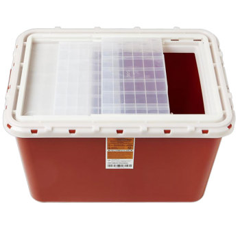 CONTAINER,SHARPS,8 GAL,SLIDE,10/CASE