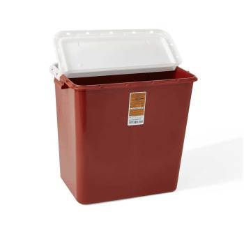 CONTAINER,SHARPS,RED,12 GAL,HINGED,EACH