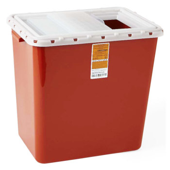CONTAINER,SHARPS,12 GAL,SLIDE,10/CASE