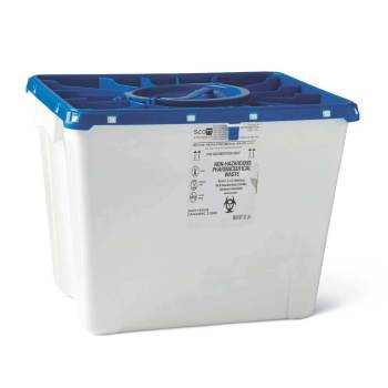 CONTAINER,PHARMA,8GAL,WHITE,PORT LID,9 EA/CS