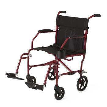 WHEELCHAIR,TRANSPORT,FREEDOM,RED,RETAIL,EA