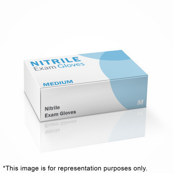 GLOVE, NITRILE, MEDIUM, 100/BX