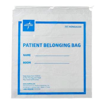 BAG,PATIENT BELONGING,DRAWSTRING,CLEAR,250 EA/CS