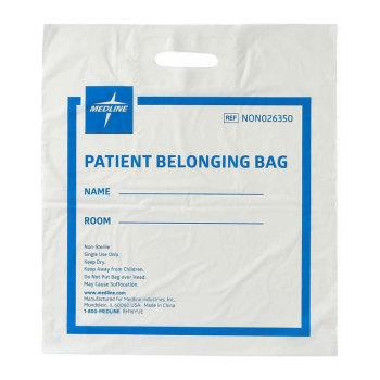BAG,PATIENT,BELONGING,PATCH HANDLE,WHITE,250 EA/CS