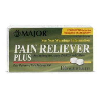 TABS,PAIN-RELIEF,PLUS,100/BT(EXCEDRIN),EA
