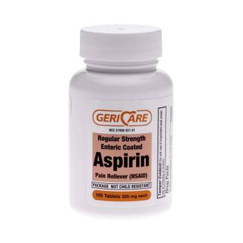 ASPIRIN,TABS-EC,325MG,100BT(ECOTRIN),EA