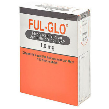 PH I-GLO (FUL-GLO) FLUORESCEIN STAIN STRIPS 1MG, 100/BOX