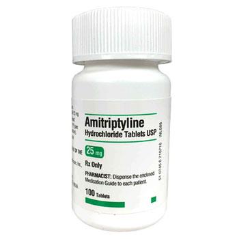 RX Amitriptyline 25mg 100 tablets
