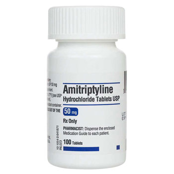 RX Amitriptyline 50mg 100 tablets