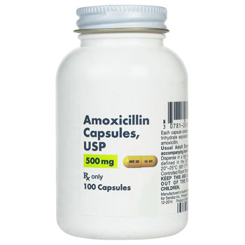 RX AMOXICILLIN 500MG, 100 CAPSULES, Top Pharmaceuticals
