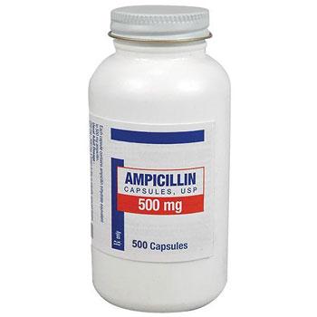 RX AMPICILLIN 500 MG, 500 CAPSULES