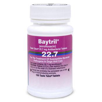 RXV BAYTRIL 22.7 MG, 100 TASTE TABS