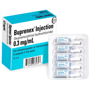 RX CIII (3) BUPRENORPHINE(BUPRENEX)  HCL 0.3MG/ML, 5X1ML AMPULE/BOX