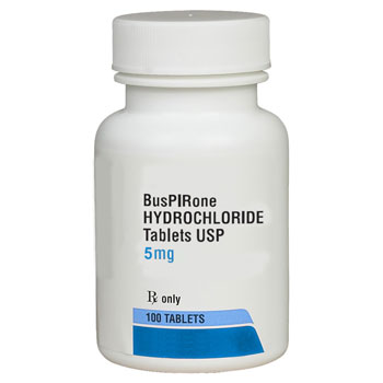 RX BUSPIRONE HCL 5MG 100 TABLETS