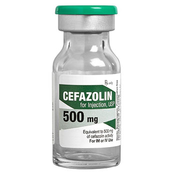 RX CEFAZOLIN INJECTION, 500 MG 15ML