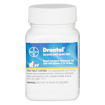 RXV DRONTAL FOR CATS, 50 TABS