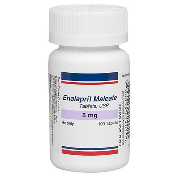 RX ENALAPRIL MALEATE 5 MG 100 TABS