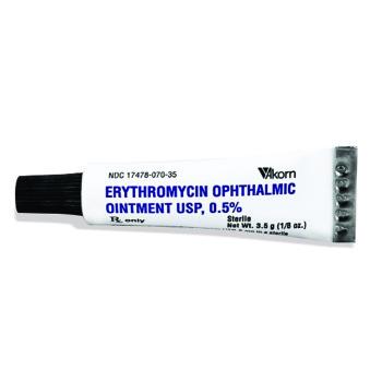 RX ERYTHROMYCIN 0.5% OPH OINT 3.5GM