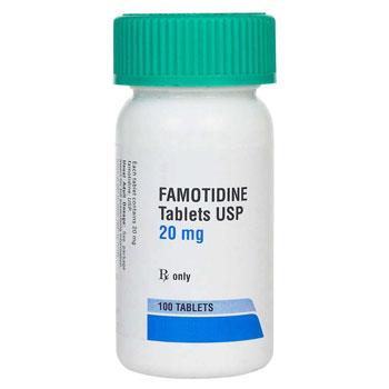 RX FAMOTIDINE 20MG 100 TABLETS