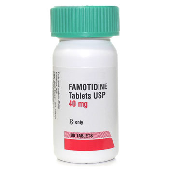 RX FAMOTIDINE 40MG, 100 TABLETS