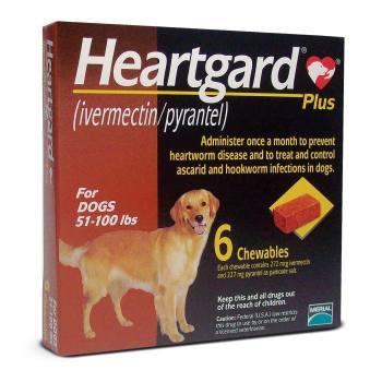 RXV HEARTGARD PLUS, LARGE, 6 MONTH