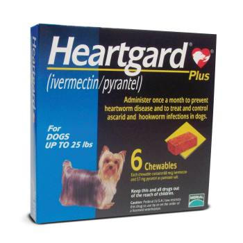 RXV HEARTGARD PLUS, SMALL , 6 MONTH