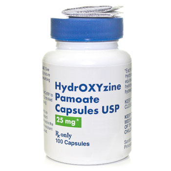 RX HYDROXYZINE PAMOATE 25MG,100 CAPS
