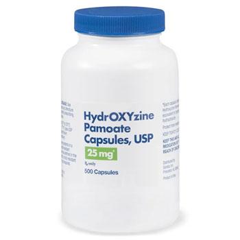 RX HYDROXYZINE PAM 25MG 500 CAPS
