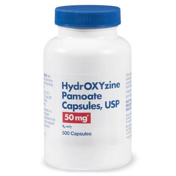 RX HYDROXYZINE PAMOATE 50MG 500 CAPS