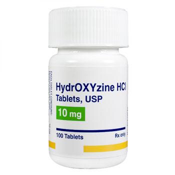 RX HYDROXYZINE HCL 10MG, 100 TABLETS