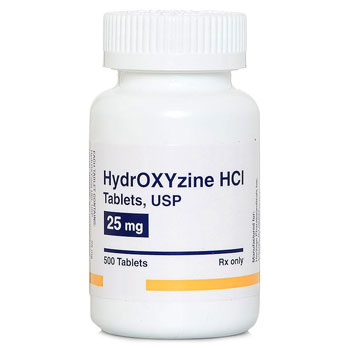 RX HYDROXYZINE HCL TABLETS, 25MG, 500CT