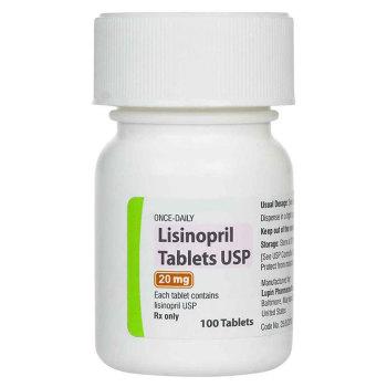 RX LISINOPRIL 20MG, 100TABLETS