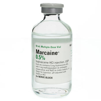 RX MARCAINE BRAND INJ. 0.5% 50ML