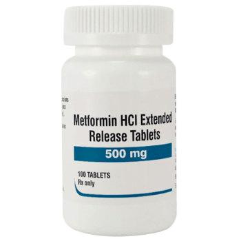 RX METFORMIN ER 500MG, 100TAB