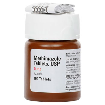 RX METHIMAZOLE 5MG, 100 TABLETS