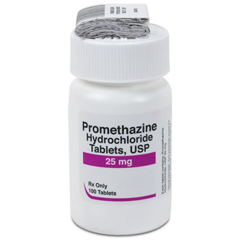 RX PROMETHAZINE 25MG TABS, 100 COUNT