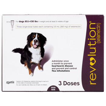 Revolution for Dogs Plum, 85-130lbs, 3 months/box