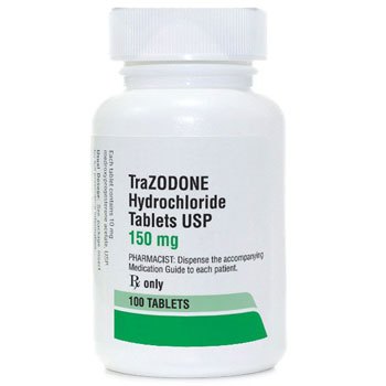 RX TRAZODONE HCL 150MG, 100 TABLETS