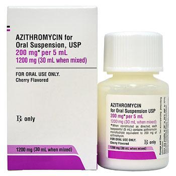 RX AZITHROMYCIN SUS 1200MG, 200MG/5ML,30ML