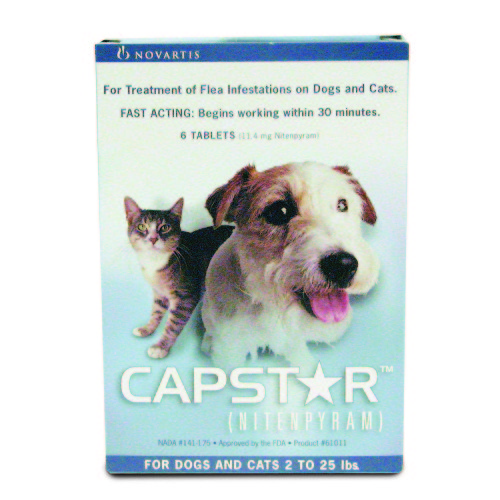RXV CAPSTAR BLUE,2-25LB,CATS&DOGS