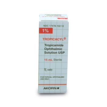 RX TROPICAMIDE 1% OPH SOL 15ML