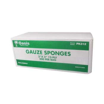GAUZE,3X3 12-PLY,N/S,4000/CS