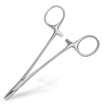 NEEDLE HOLDER,MAYO HEGAR,5""