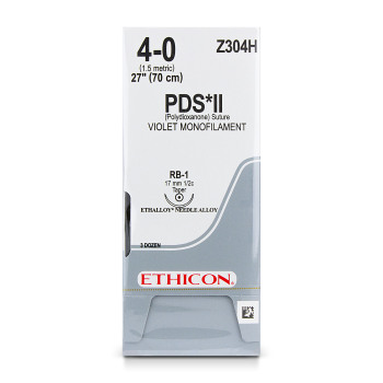 SUTURE,ETHICON,PDS,4-0,RB-1,36/BX