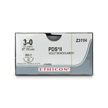 SUTURE,PDS,3-0,SH-1,36/BX