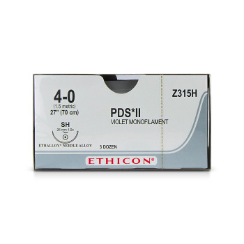 SUTURE,PDS,4-0,SH,36/BX